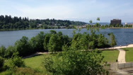 Stock Video Footage of Pan Of Capitol Lake In Olympia, WA
