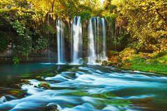 Waterfall Duden at Antalya Turkey Stock Photos