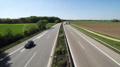 German Autobahn Stock Footage