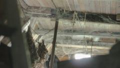 Wooden Ceiling filled with Cobwebs - 25FPS PAL Stock Footage