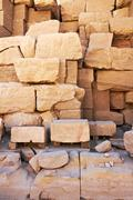 Ruins of the karnak temple as background Stock Photos