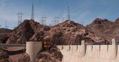 Power Grid above Hoover Dam on Nevada side 4k - stock footage