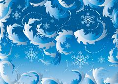 Blue background with snowflake - stock illustration