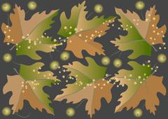 The leaves are falling - stock illustration