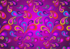 Stock Illustration of Original paisley on a violet Background