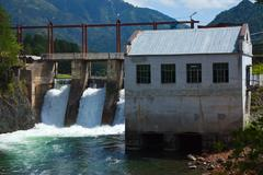 Hydro-electric power station Stock Photos