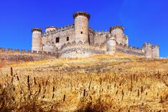General view of Castle in Belmonte Stock Photos