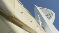 Different view of Spinnaker tower Stock Footage