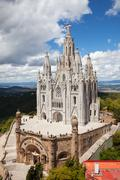 Kirkko Sacred Heart of Jesus. Barcelona Kuvituskuvat