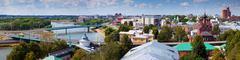 View of Yaroslavl city - stock photo