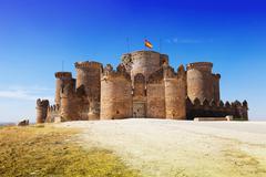 Main gate in Gothic Mudejar castle Stock Photos