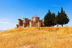 General view of Medieval Castle in Belmonte - stock photo