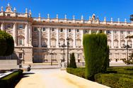 Stock Photo of Madrid. Main facade of Royal Palace