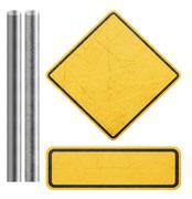 Blank Yellow Sign - stock photo