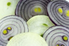 sliced onion - stock photo