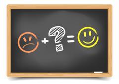 blackboard satisfaction - stock illustration