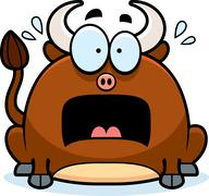 Terrified little bull Stock Illustration