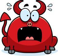 Terrified little devil Stock Illustration