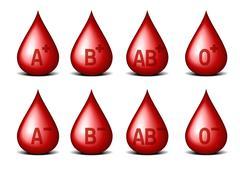 blood types - stock illustration