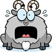 Terrified little goat Stock Illustration