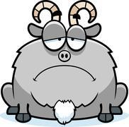 Sad little goat Stock Illustration