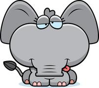 Stock Illustration of cartoon goofy elephant