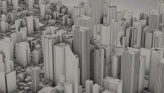 Zoom into a City with a focus on a Skyscraper Stock Footage