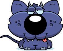 cartoon goofy chupacabra - stock illustration