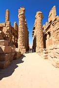 Ruins of the karnak temple Stock Photos
