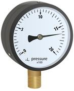 Analogue metal manometer Stock Illustration