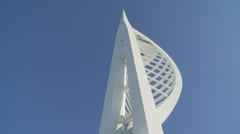 Looking up at the Spinnaker tower Stock Footage