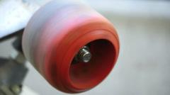1793 VIntage Skateboard Wheel Spinning, 4K Stock Footage