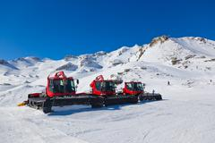 Machines for skiing slope preparations at Bad Hofgastein - Austr Stock Photos