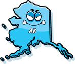 Stock Illustration of cartoon angry alaska