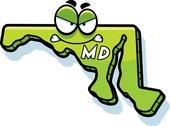 Cartoon angry maryland Stock Illustration