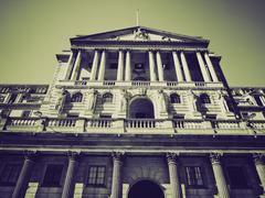 Stock Photo of Vintage sepia Bank of England