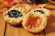 Stock Photo of Jam filled shortbread cookies