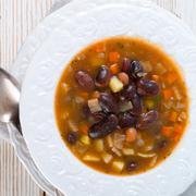 Stock Photo of sharp bean soup