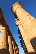 colonnade of the luxor temple - stock photo
