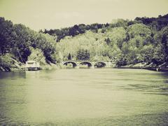 Stock Photo of Vintage sepia River Po Turin