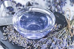 lavender bath additive - stock photo