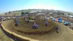 Motocross Pro Championship Race Hangtown TimeLapse Sacramento Ca. 250 Class HD Stock Footage