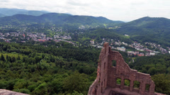 A view on the Baden-Baden (Germany) valley Stock Footage