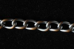 silver chain texture - stock photo