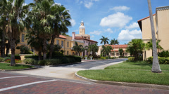 Historic Landmark In Florida Mediterranean Revival Architecture Ultra HD Stock Footage