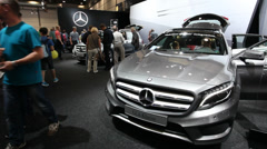 Mercedes Benz at the AMI Trade Fair Stock Footage