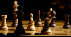 1794 Chess Queen Takes King Check Mate, 4K - stock footage