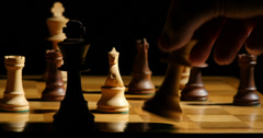 1796 Chess Queen Takes King Check Mate, 4K - stock footage