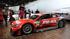 Mercedes Benz C-Coupe DTM Race Car - stock footage