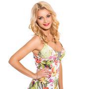 Stock Photo of vogue. beautiful blonde in cute dress